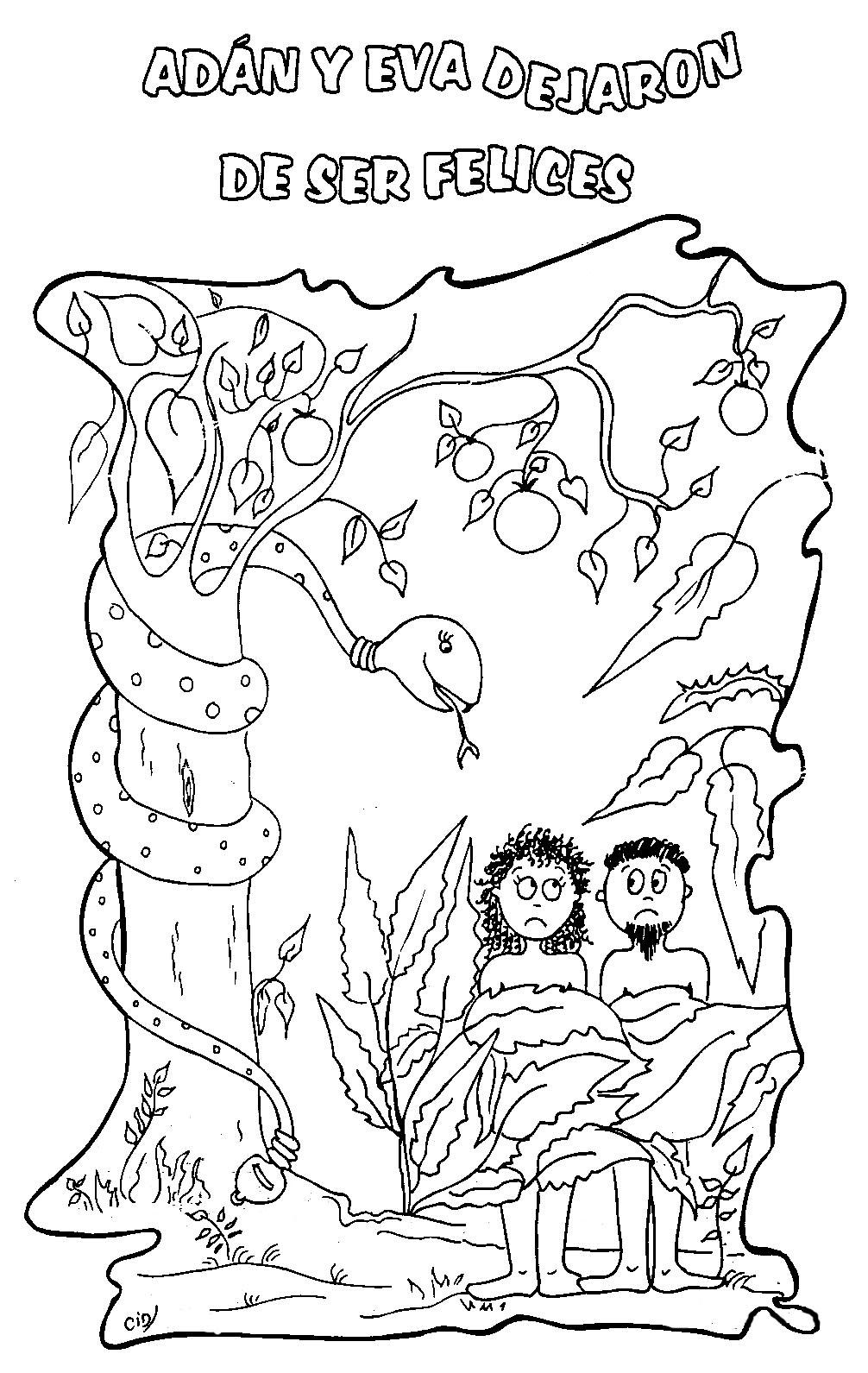 Magnífico Adán Y Eva Colorear Páginas Lds Motivo - Dibujos Para ...