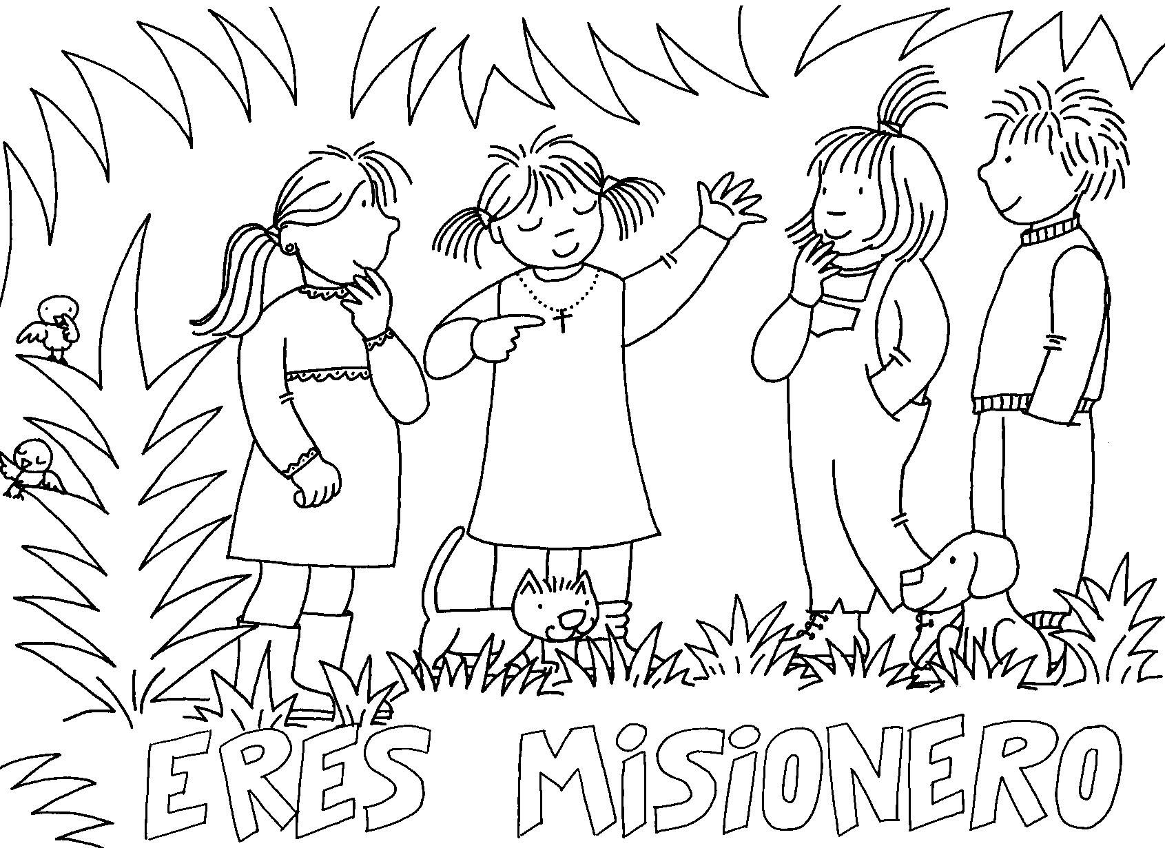 Las Misiones Y Los Niños Dibujos Para Colorear De Niños: Fichas Sobre Las Misiones