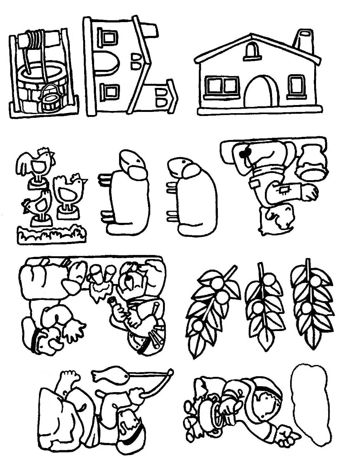 dibujos de pesebres para pintar: