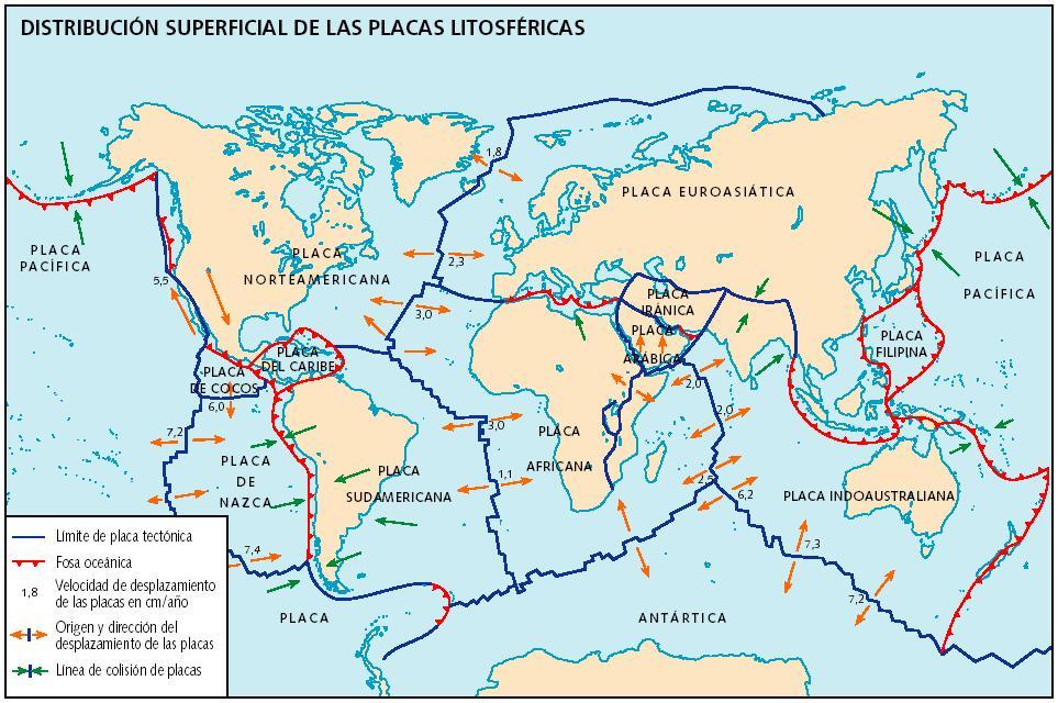 Resultado de imagen de placas tectonicas